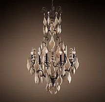Versailles Wood Teardrop Chandelier Small
