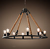 Rope Filament Round Chandelier Large