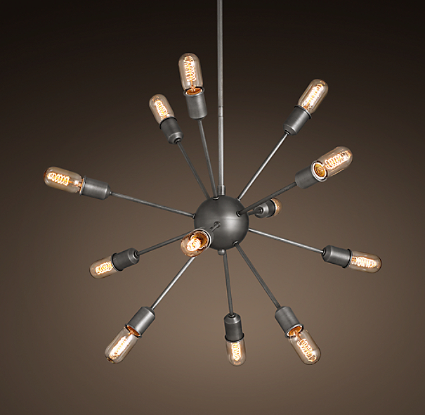 sputnik filament chandelier 30. Black Bedroom Furniture Sets. Home Design Ideas