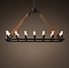 Rope Filament Rectangle Chandelier Small