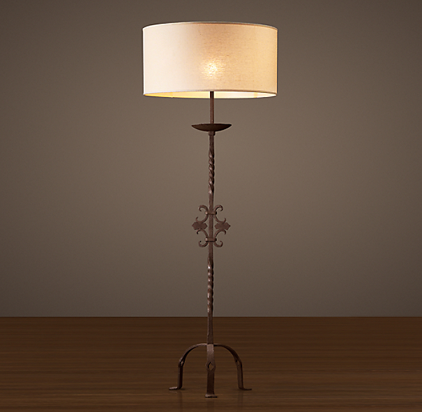 French Andiron Floor Lamp