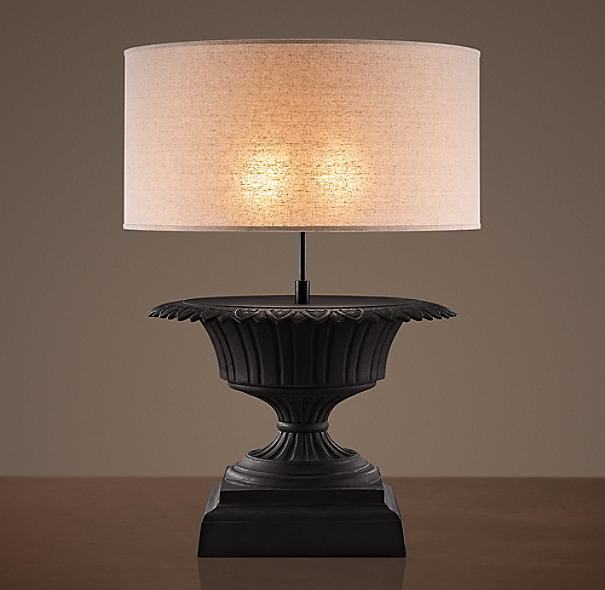 Iron Fluted Urn Table Lamp