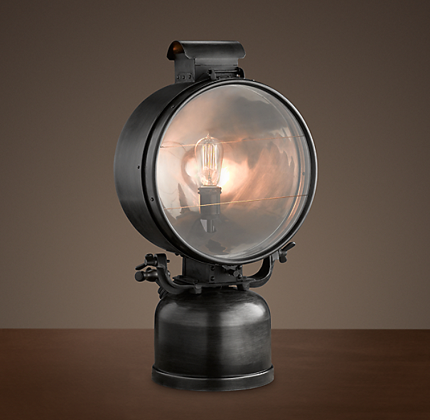 1950s British Railway Flood Lamp