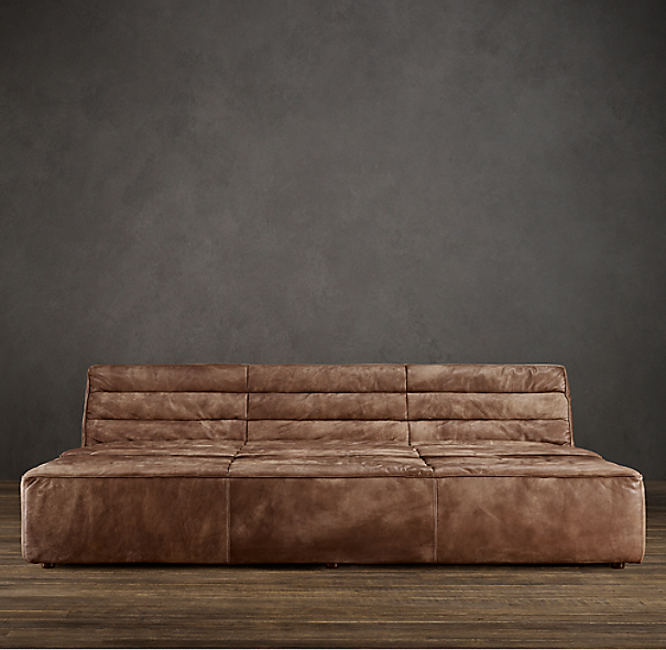 8' Chelsea Leather Daybed