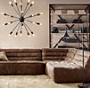 Chelsea Leather Left Arm Sofa Chaise