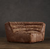 Chelsea Leather Round Corner Chair