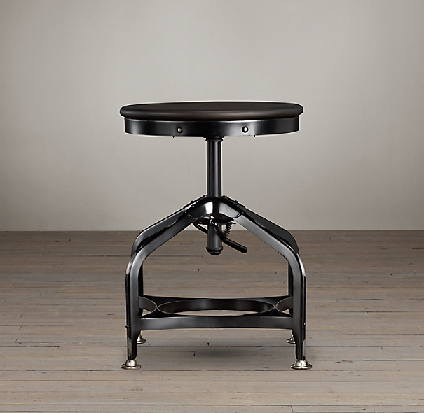 Vintage Toledo Dining Stool Distressed Black