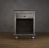 "22"" Zinc Nightstand (Set of 2 Open)"