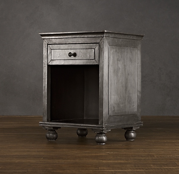"22"" Zinc Open Nightstand"