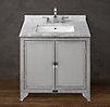 1930s Laboratory Stainless Steel Single Vanity Sink