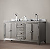 1930s Laboratory Stainless Steel Double Vanity Sink