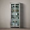 1930s Laboratory Stainless Steel Storage Cabinet Medium