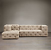 Soho Tufted Upholstered Left-Arm Sofa Chaise Sectional