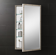 Rivet Medicine Cabinet Antiqued Nickel