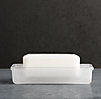 Pharmacy Soap Dish Frosted Glass