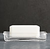 Pharmacy Soap Dish Clear Glass