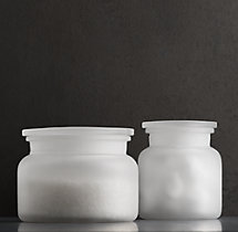 Pharmacy Canisters Frosted Glass