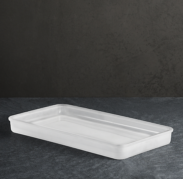 Pharmacy Tray Frosted Glass