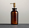 Pharmacy Soap Dispenser Amber Glass