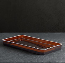 Pharmacy Tray Amber Glass