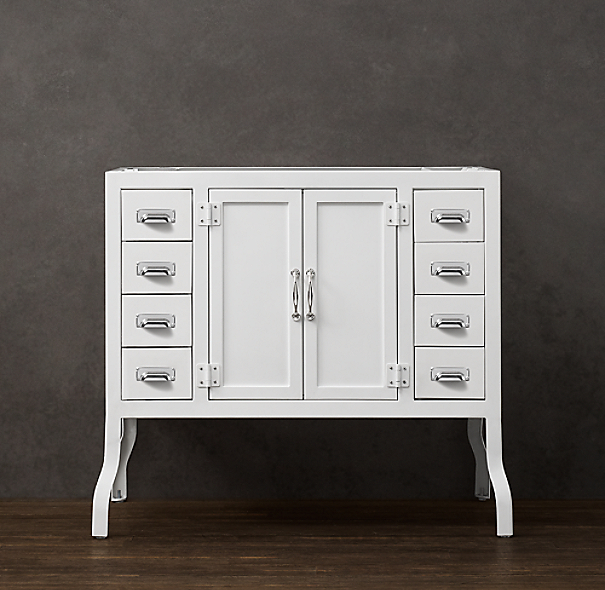 Pharmacy Single Vanity Base White