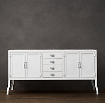 Pharmacy Double Vanity Base White