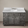 Zinc Extra-Wide Single Vanity Sink