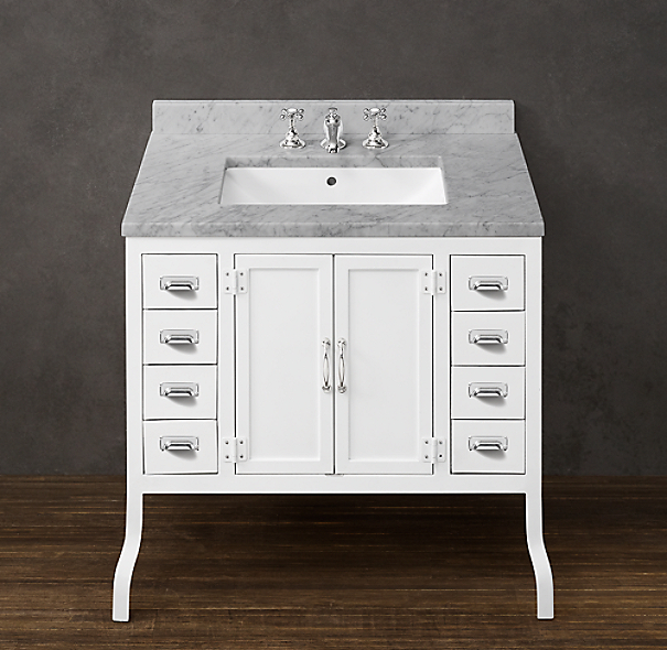 Pharmacy Single Vanity White