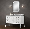 Pharmacy Extra-Wide Single Vanity White
