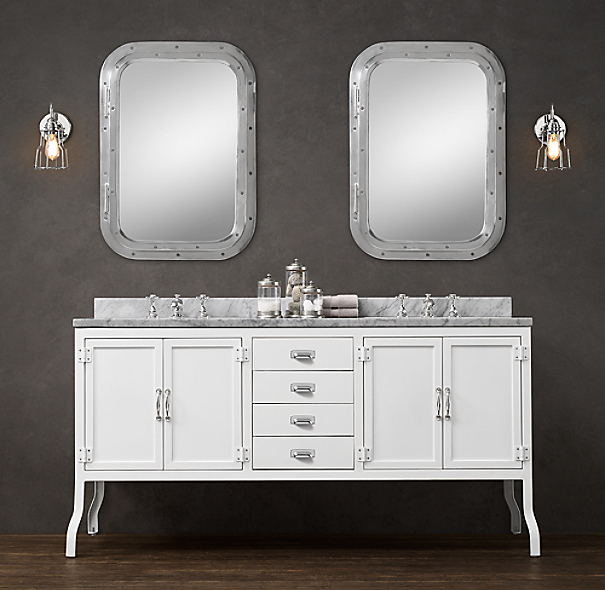 Pharmacy Double Vanity White