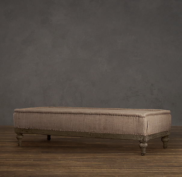 Deconstructed French Napoleonic Ottoman Antiqued Cotton