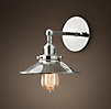 Metal Filament Sconce Polished Nickel