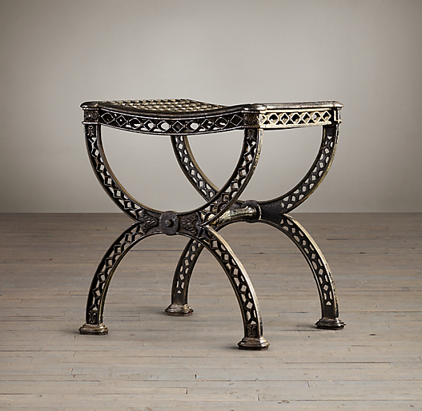 19th C. French Filigree Stool