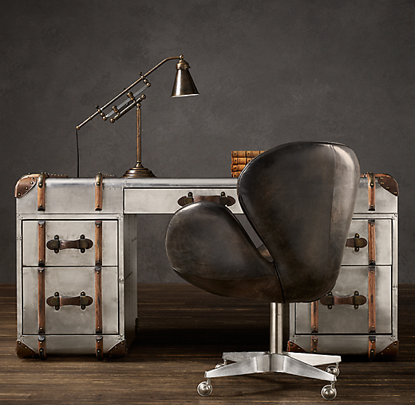 Richards' Metal Trunk Desk
