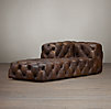Soho Tufted Leather Left-Arm Chaise