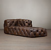 Soho Tufted Leather Right-Arm Chaise