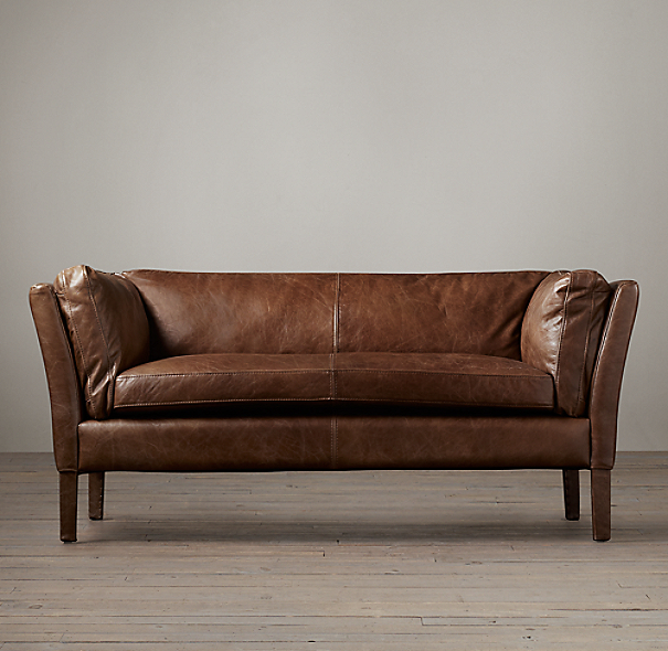 6' Sorensen Leather Sofa