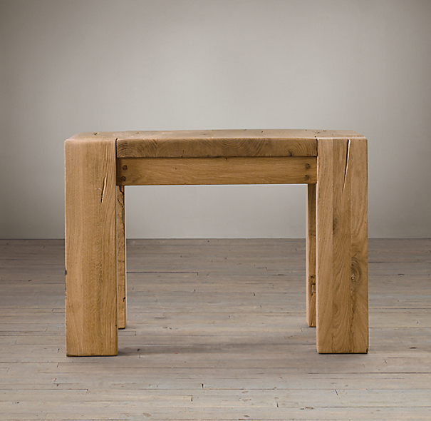 "25"" Parsons Reclaimed Russian Oak Square Side Table"