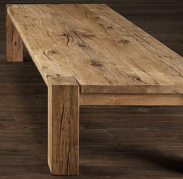 Restoration Hardware Wooden Coffee Table