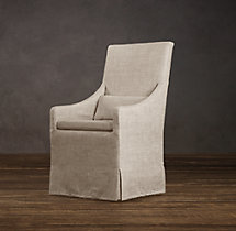 Slipcovered Slope Arm Dining Armchair Slipcover