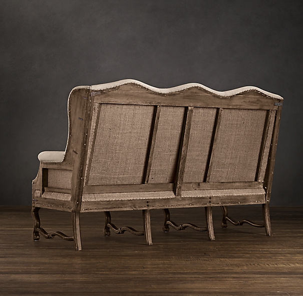 Deconstructed Wingback Settee