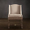 Deconstructed Slope Arm Dining Chair Antiqued Cotton