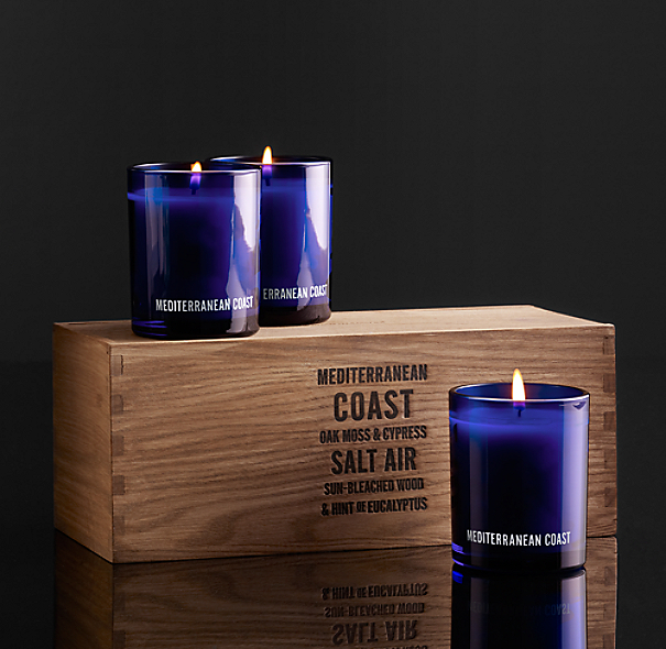 Mediterranean Coast Filled Candles (Set of 3)