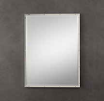 Bistro Polished Nickel Mirror