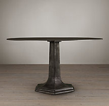 1940s Belgian Metal Dining Table