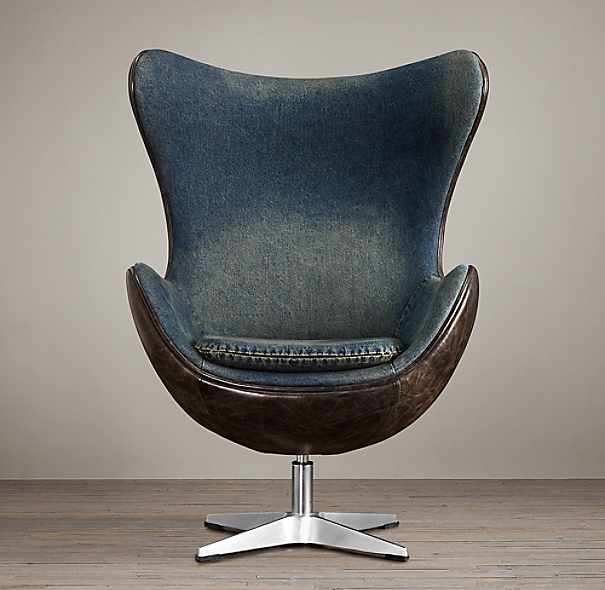 1950s Copenhagen Chair Denim
