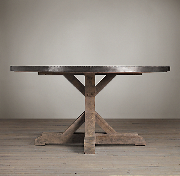Railroad Tie Round Dining Table