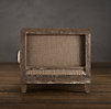 Deconstructed Shelter Arm Chair Antiqued Cotton