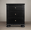 "24"" French Empire Nightstand (Set of 1 Open and 1 Closed)"