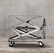 Industrial Scissor Lift Table Polished Stainless Steel